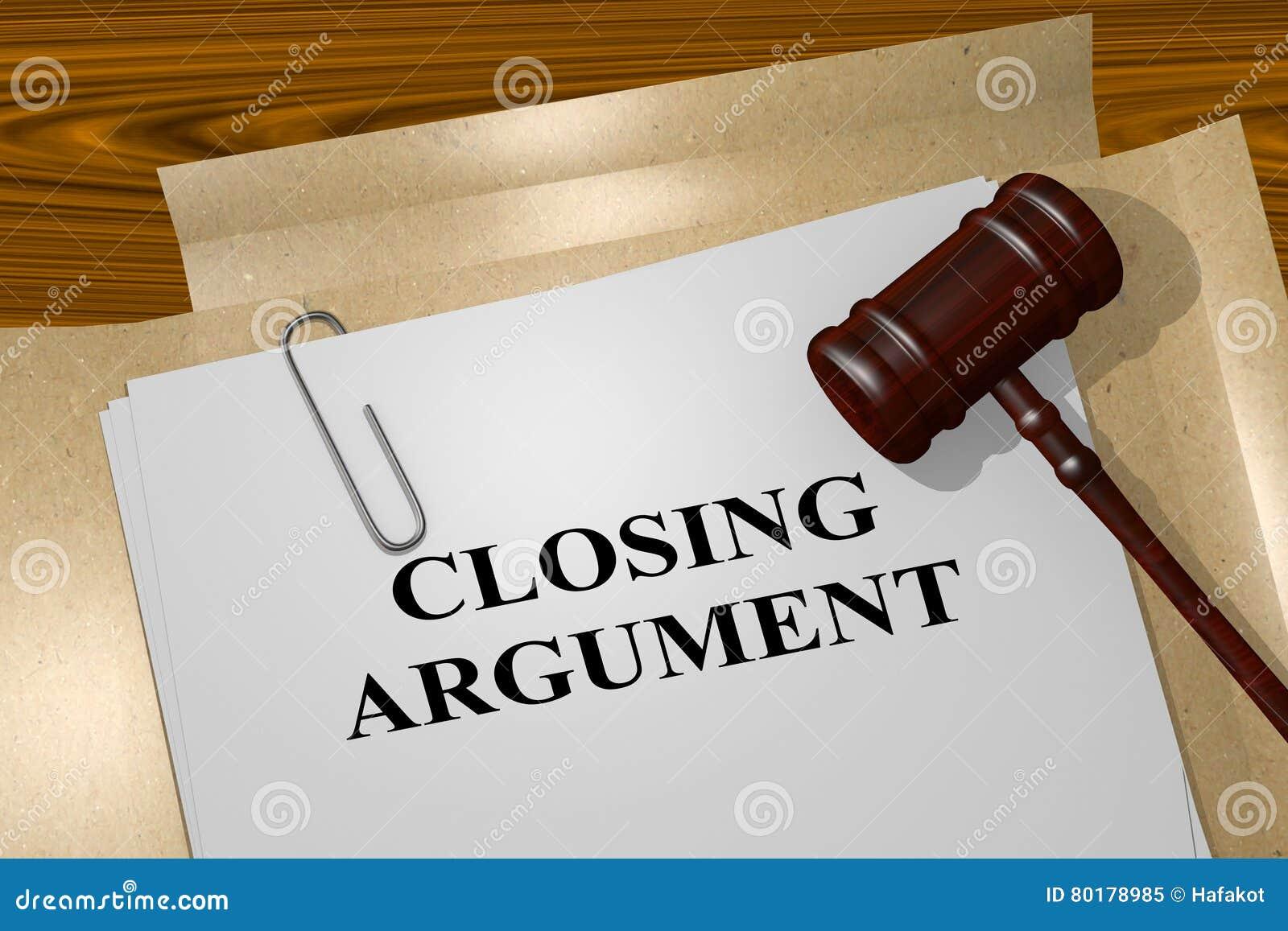 Argument fermant - concept juridique