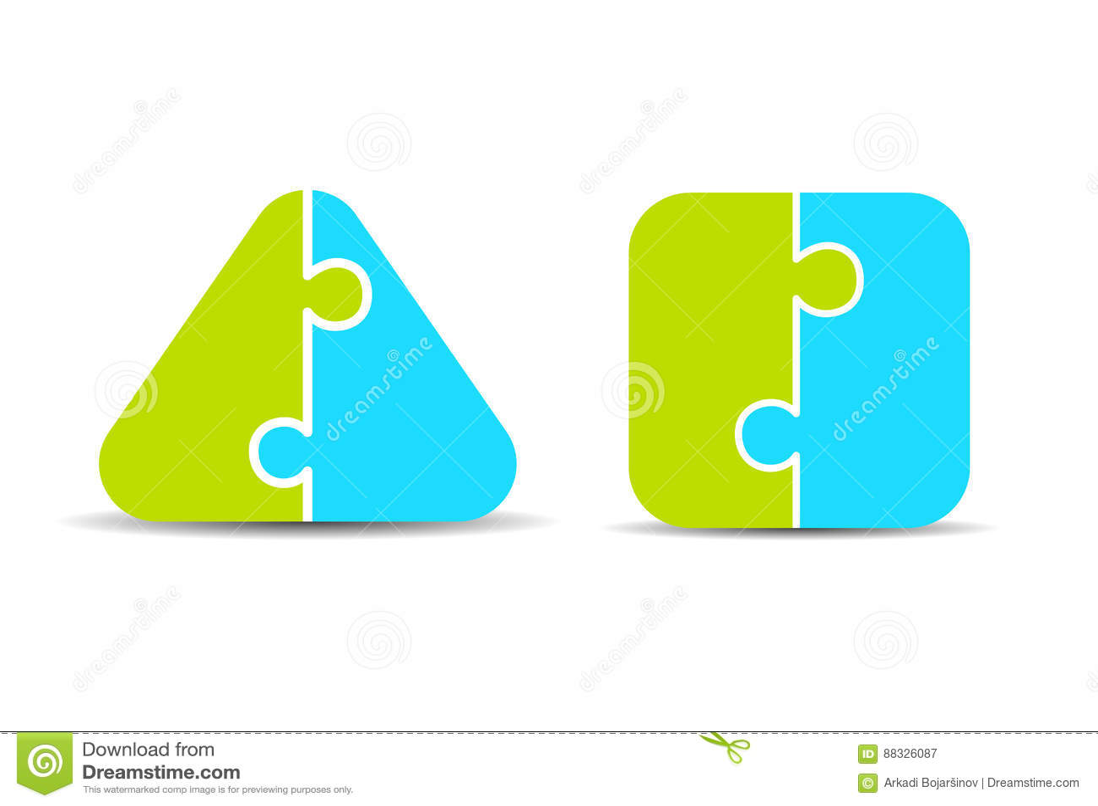 Argument za - i - kantują dwa części łamigłówki diagram