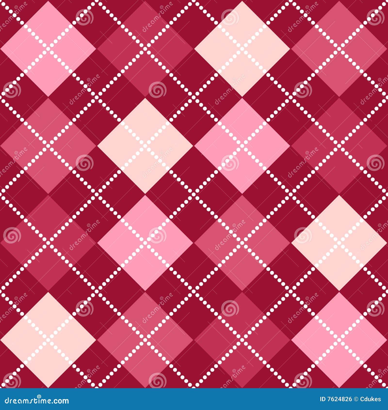 Argyle模式粉红色
