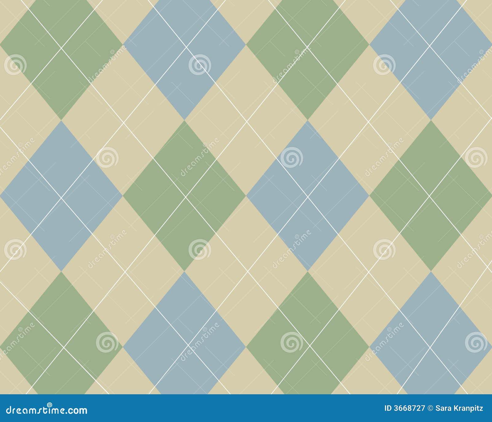 Argyle蓝绿色棕褐色