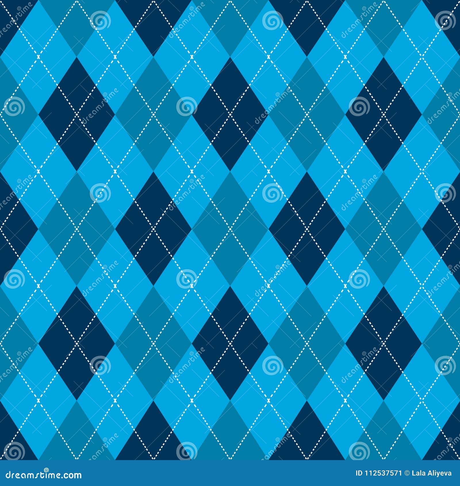 Argyle bezszwowy deseniowy Retro błękitny kolor wektor