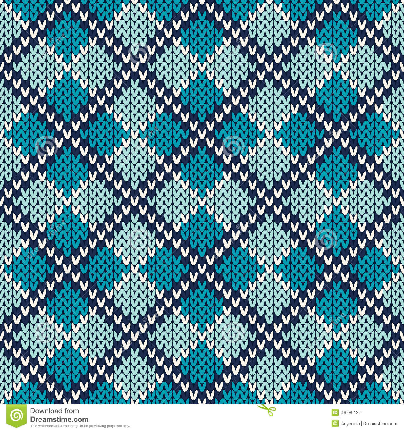 argyle knitted pattern  seamless vector background stock vector