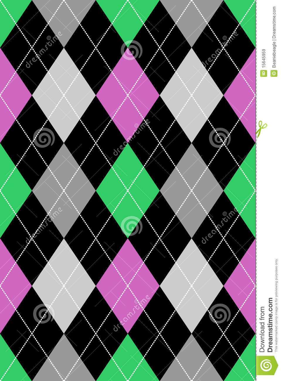 Argyle Pattern Pink & Green EPS