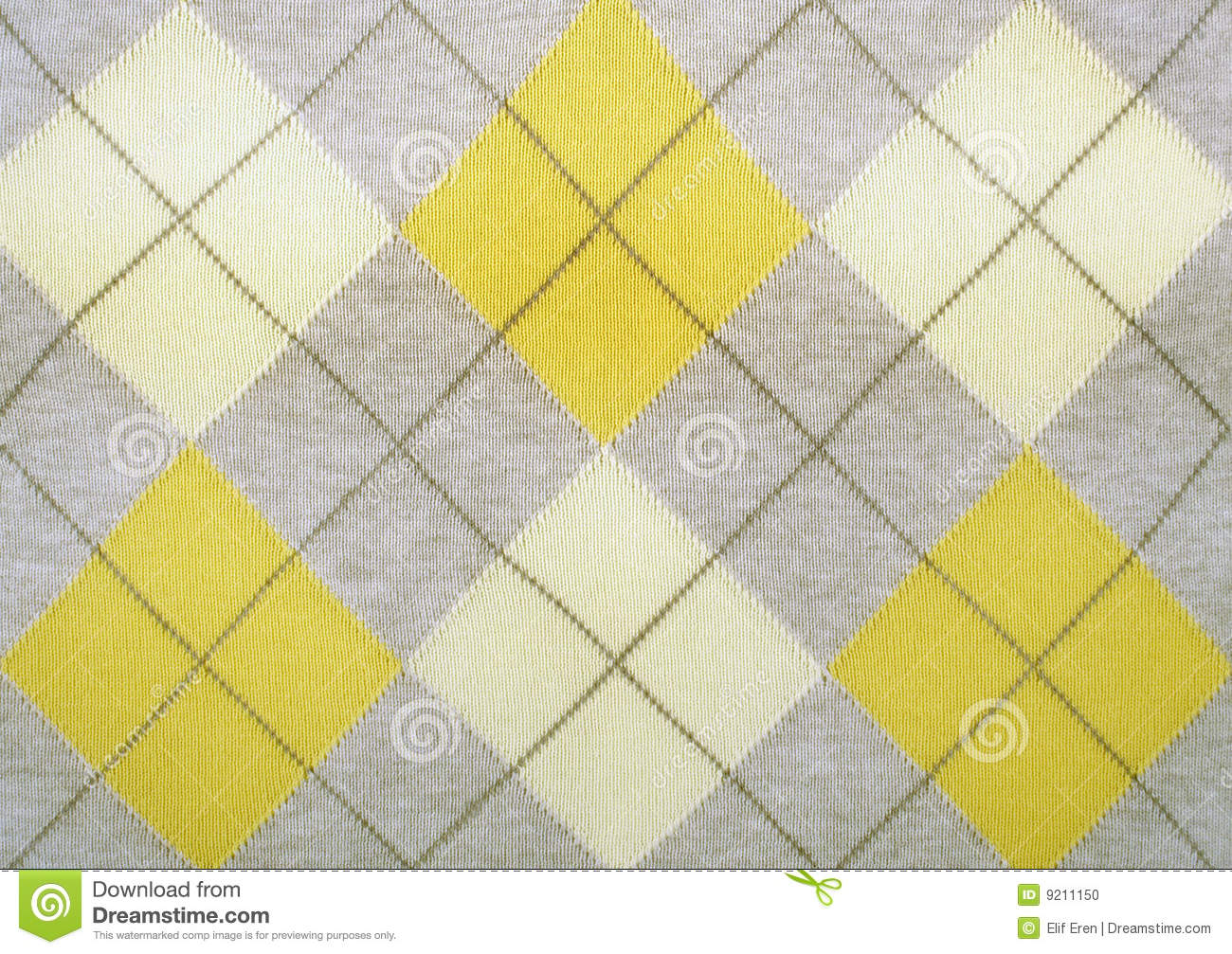 Argyle Pattern On A Sweater Stock Photo - Image: 9211150