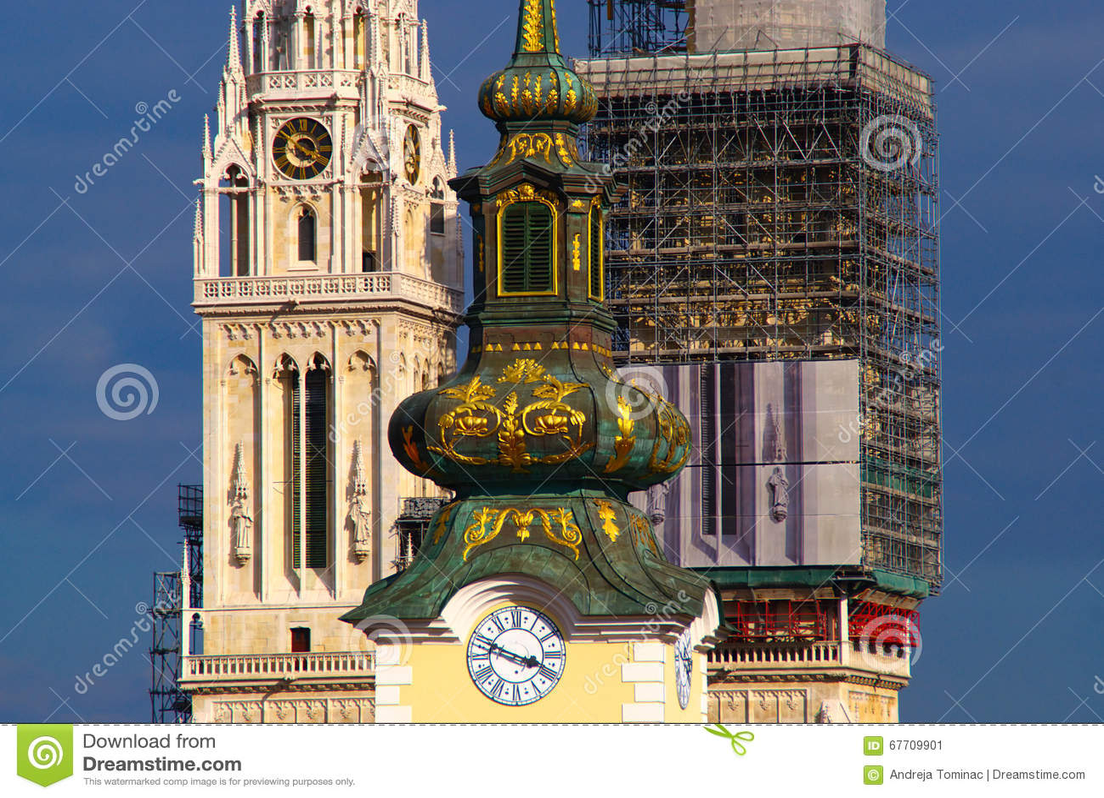 Arhitecture barroco y gótico, Zagreb, Croacia