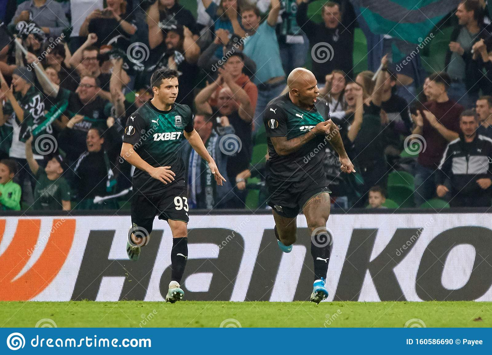Ari Da Silva Of Fc Krasnodar Celebrates His Goal Editorial Image Image Of Goal Spain 160586690