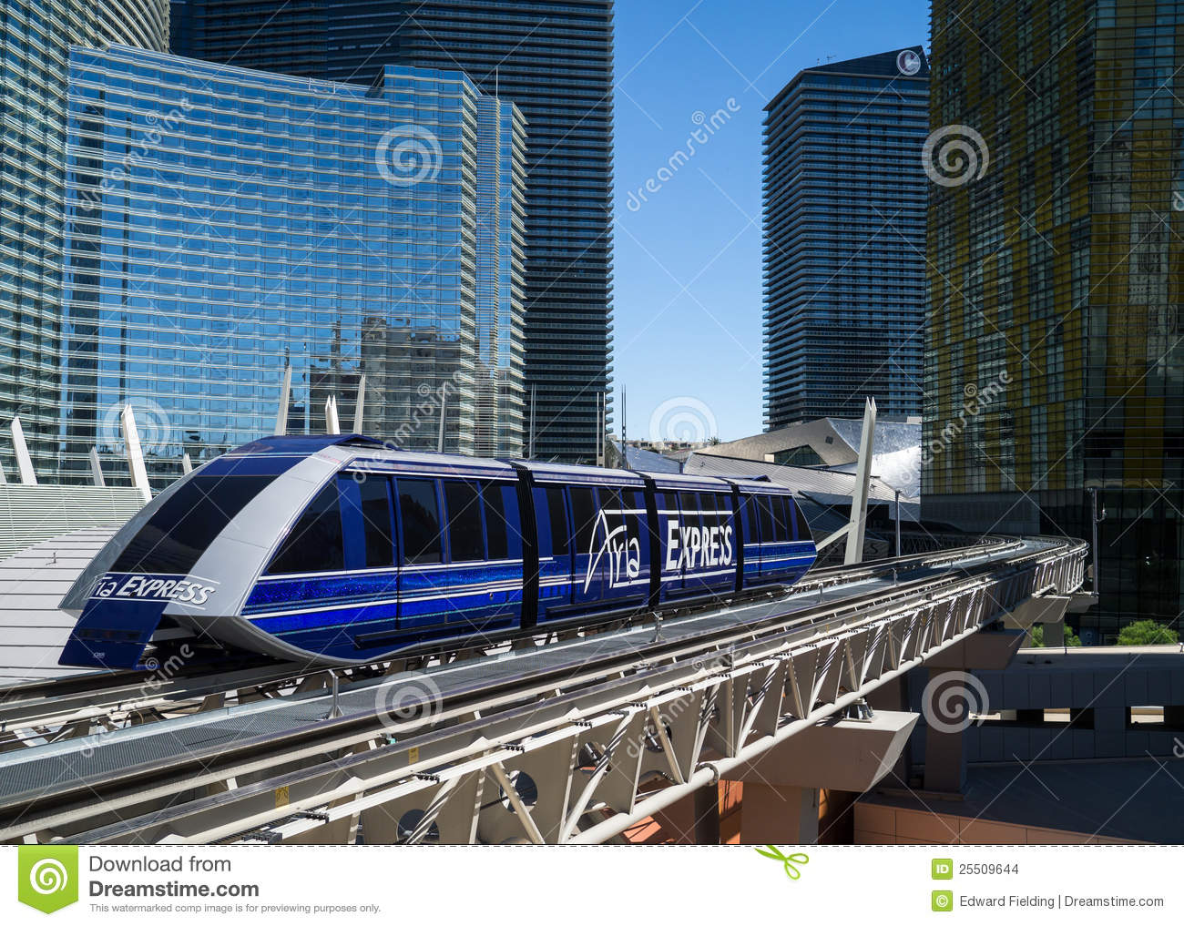 The Aria Express is a monorail system servicing the Aria, Crystal City ...