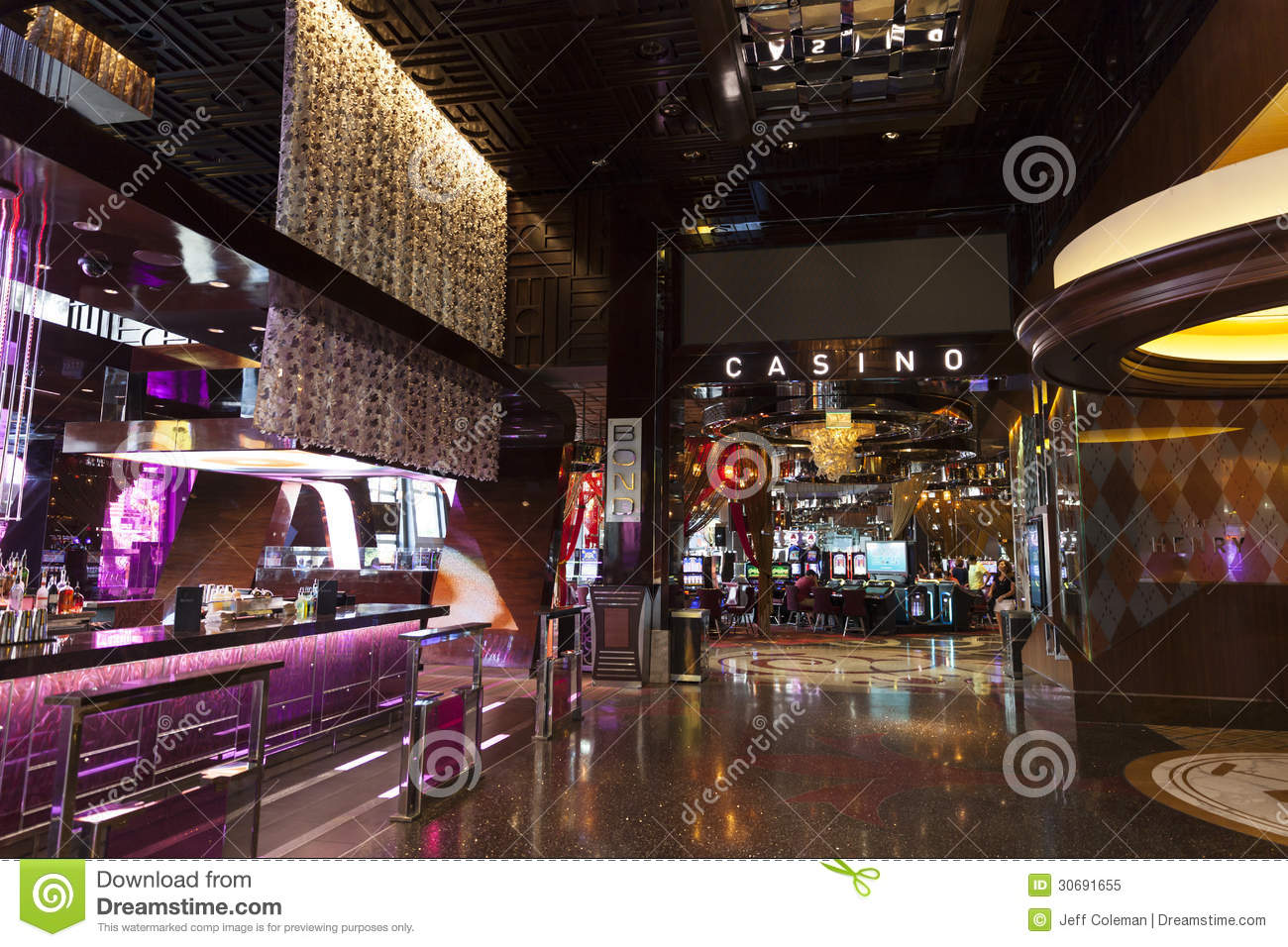 Aria Hotel Interior In Las Vegas Nv On April 27 2013 Editorial Image Image 30691655