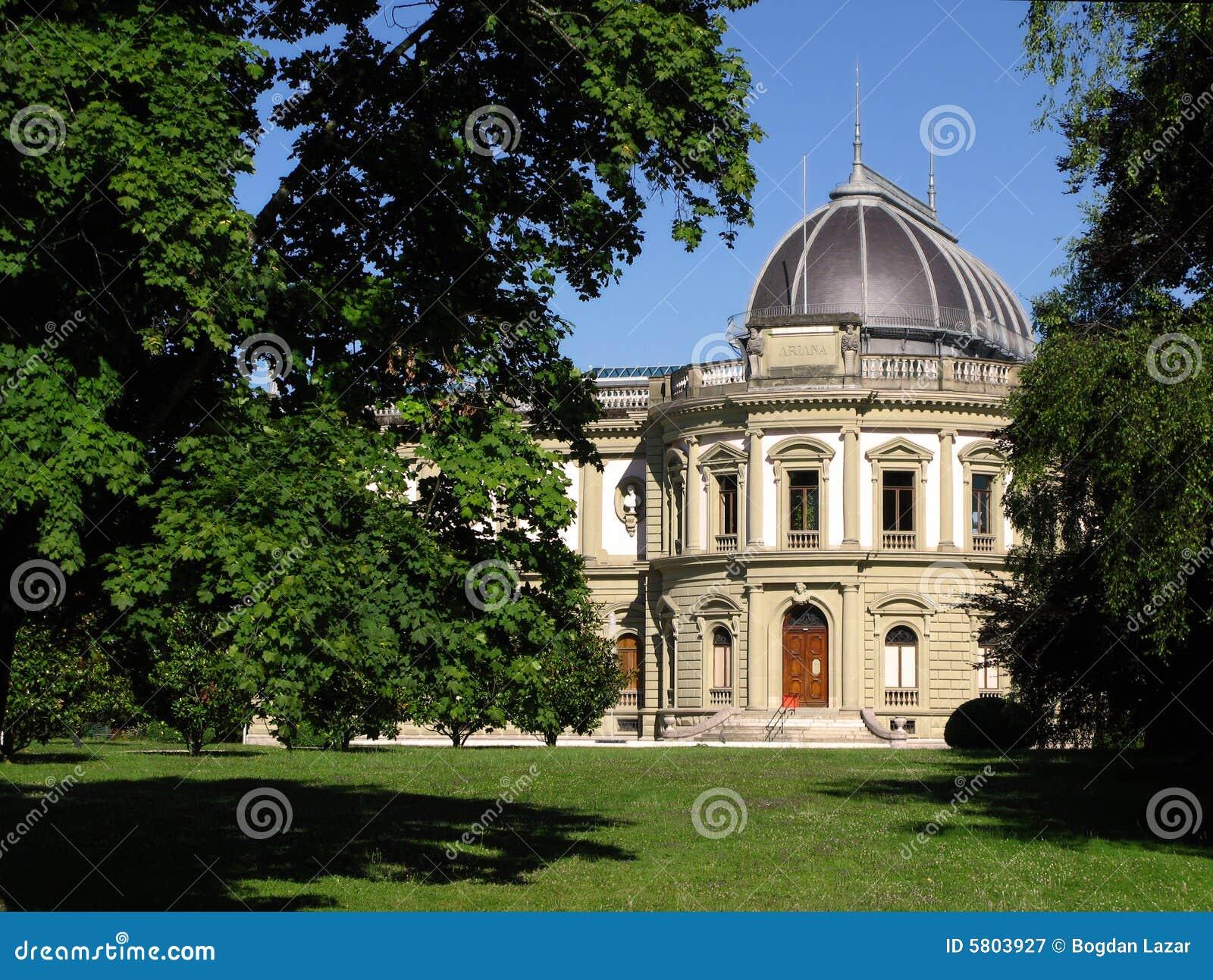 Download Ariana Museum 02, Geneva, Switzerland Stock Image - Image of travel, green: 5803927