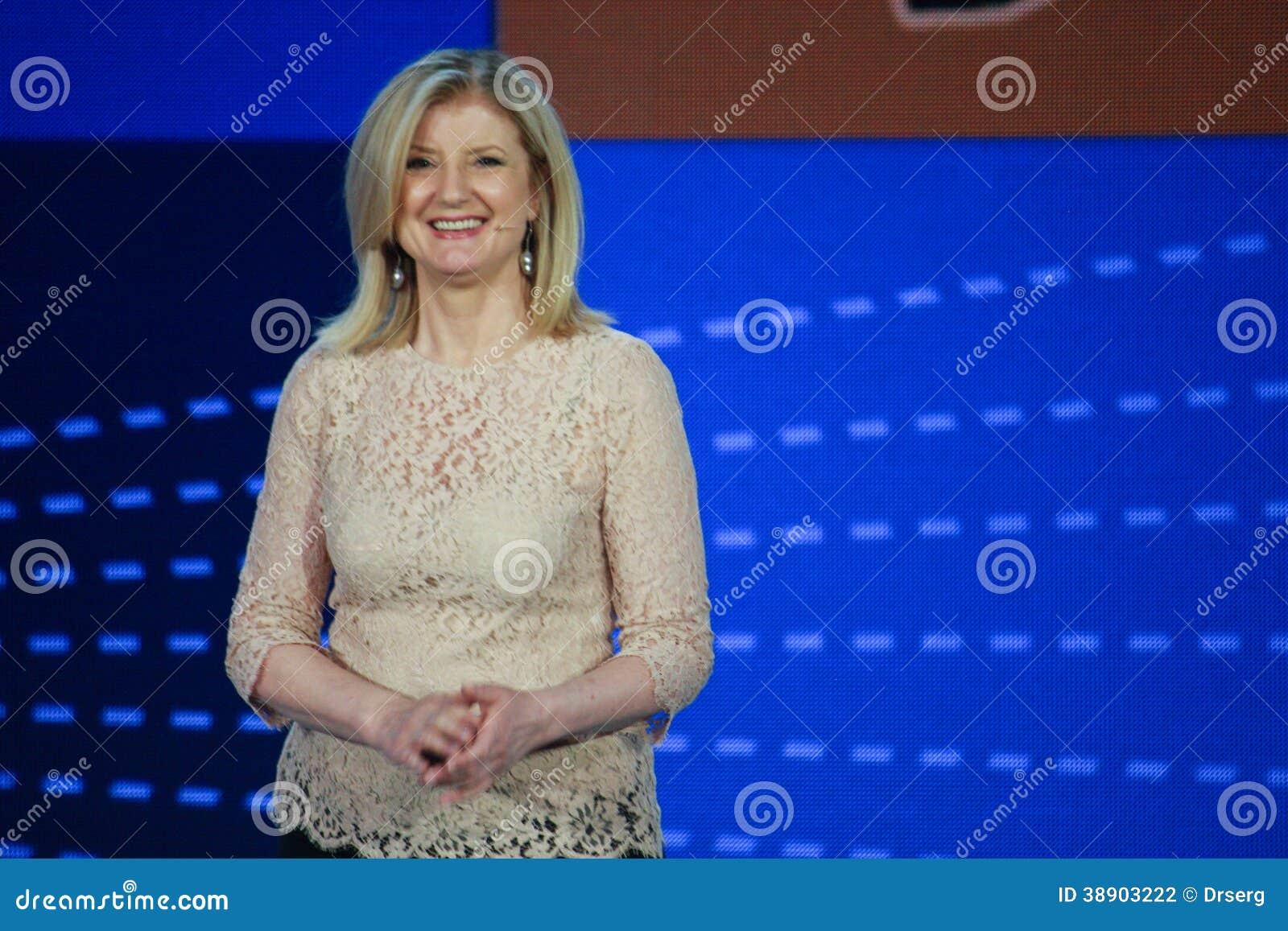 Arianna Huffington bij Microsoft-Convergentie