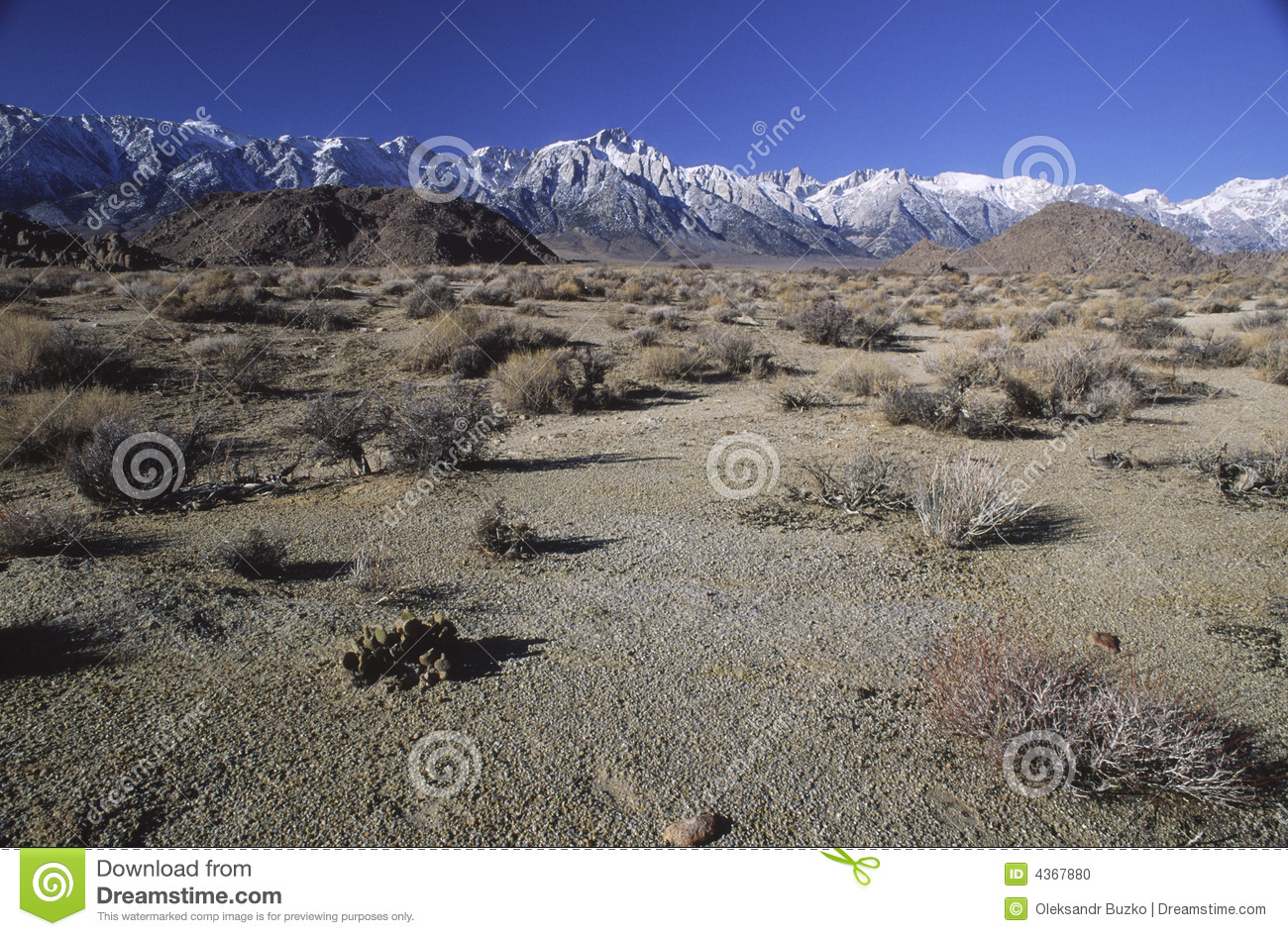 Arid owens valley and sierra nevada mountains stock photo for Sierra valley