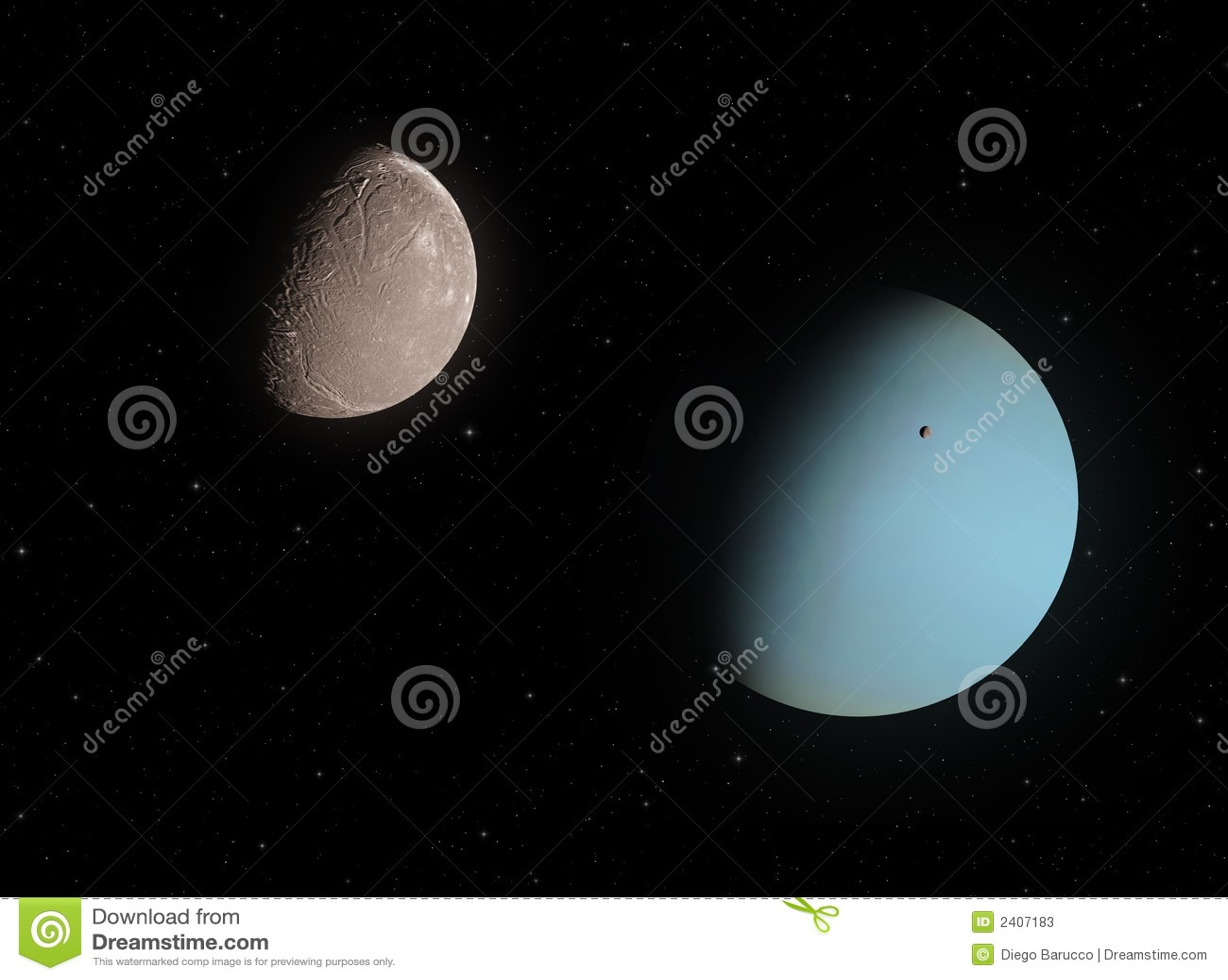 Ariel And Uranus Stock Photos - Image: 2407183