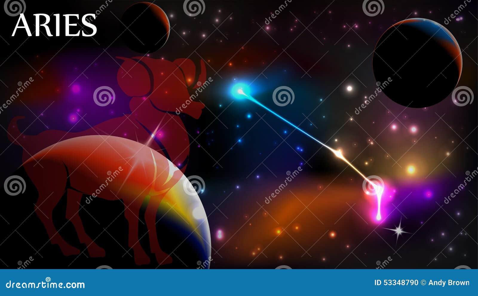 Aries Astrologiczny znak i kopii przestrzeń
