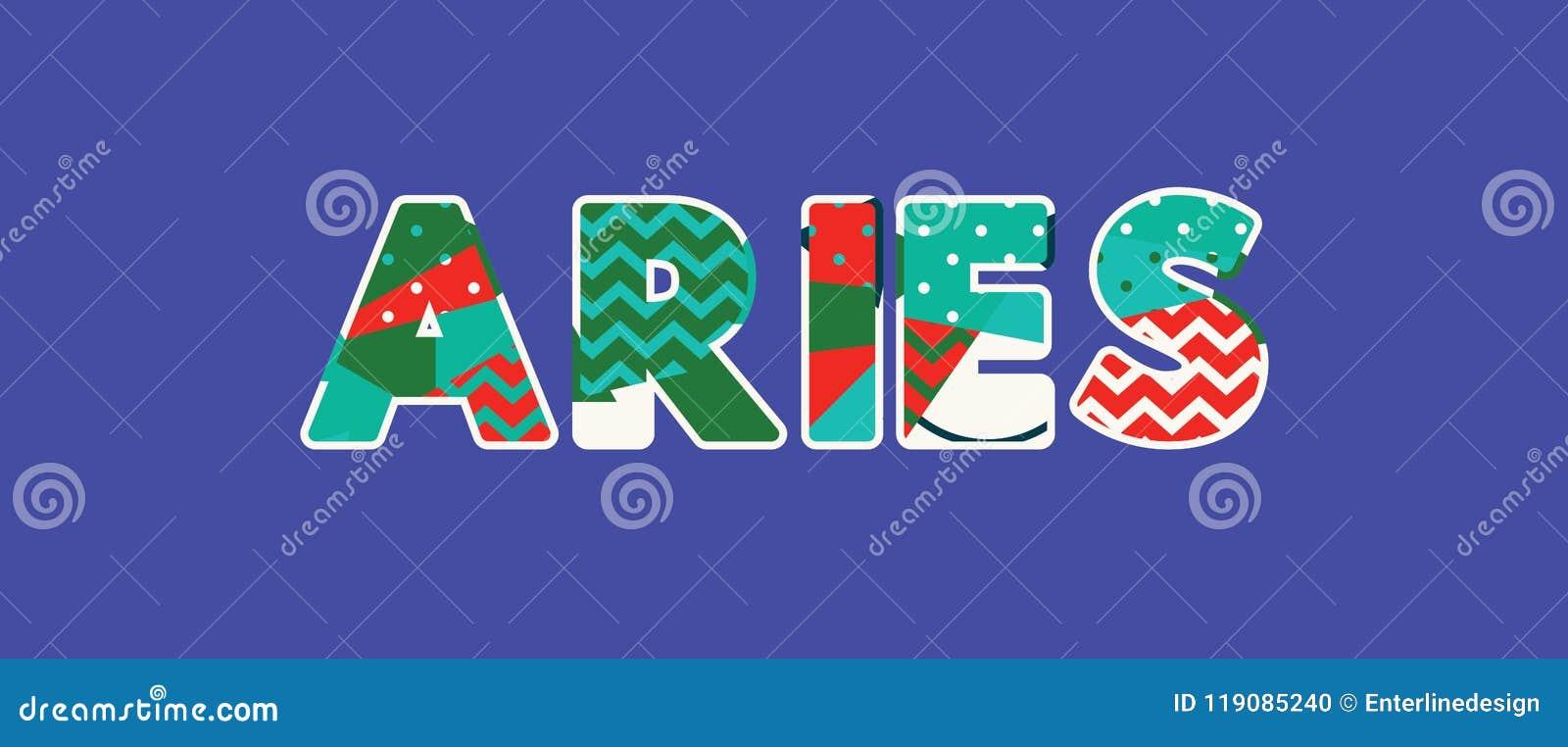 Aries Concept Word Art Illustration