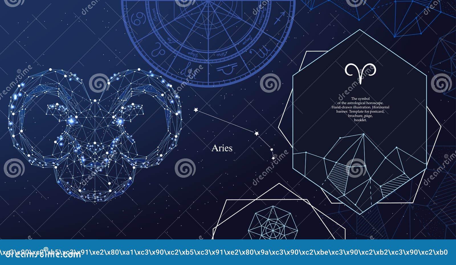 Aries del segno dello zodiaco Il simbolo dell oroscopo astrologico Insegna orizzontale