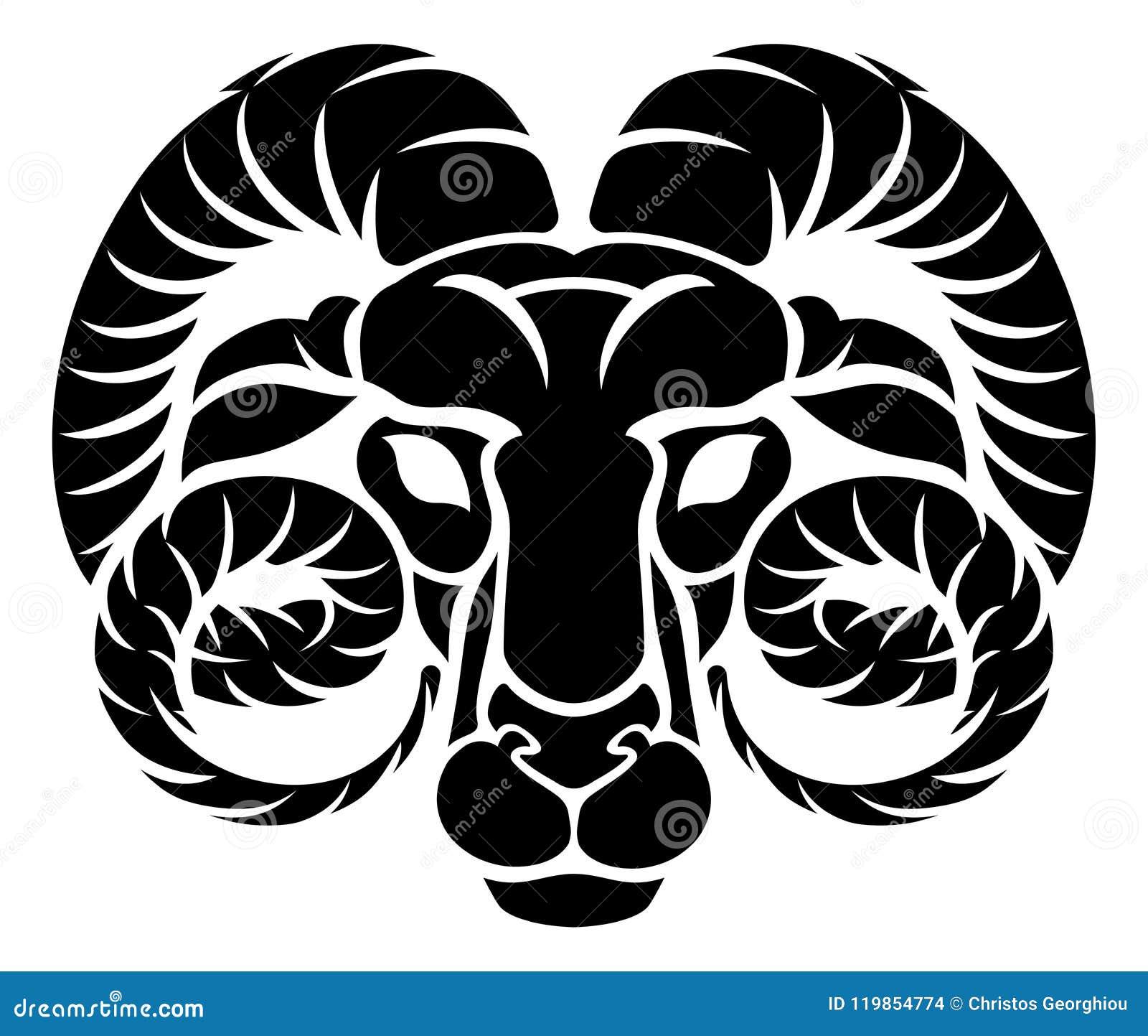 8a5fcfc4e Zodiac signs circular Aries ram horoscope astrology symbol