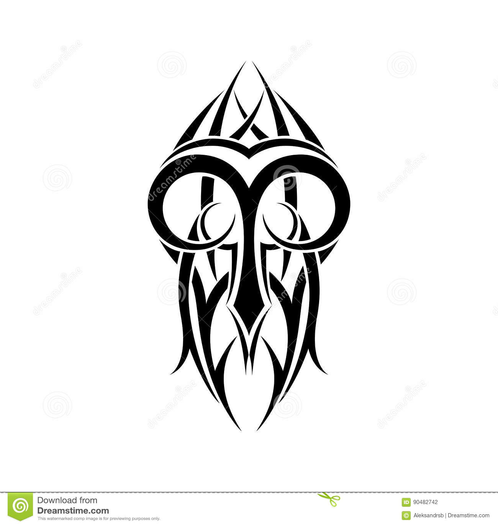 Aries Zodiac Abstract Tribal Tattoo Design Stock Vector