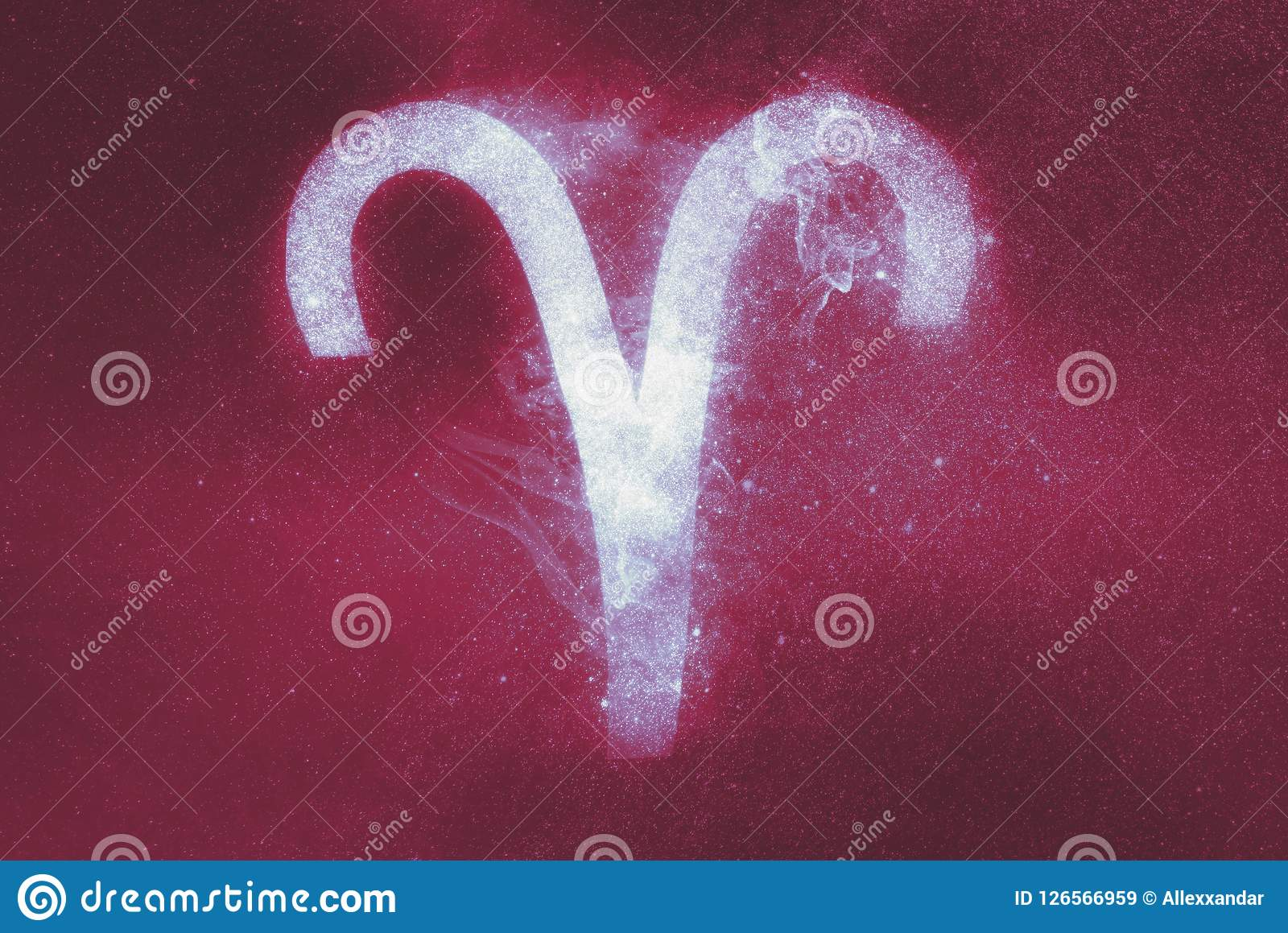 Aries Zodiac Sign. Abstract background