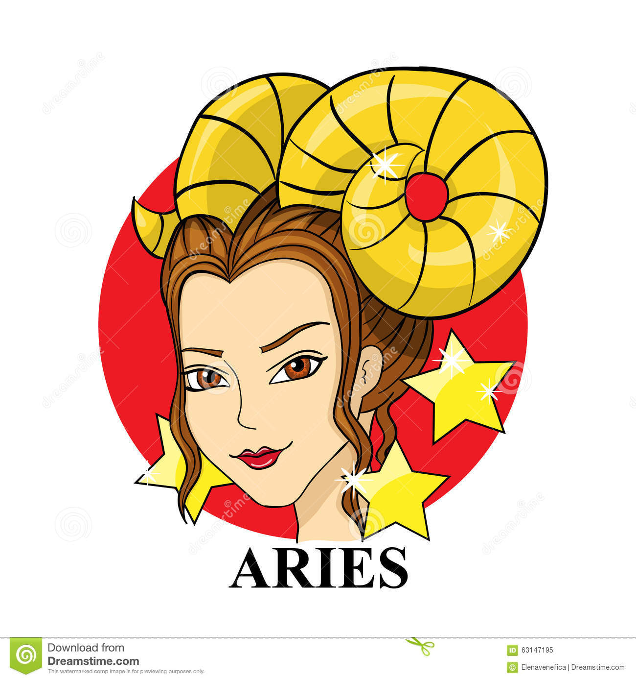 how to draw the aries zodiac sign