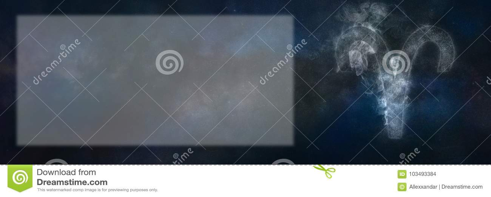 Aries Zodiac Sign Segno dell oroscopo dell Ariete Stanza del testo del modello