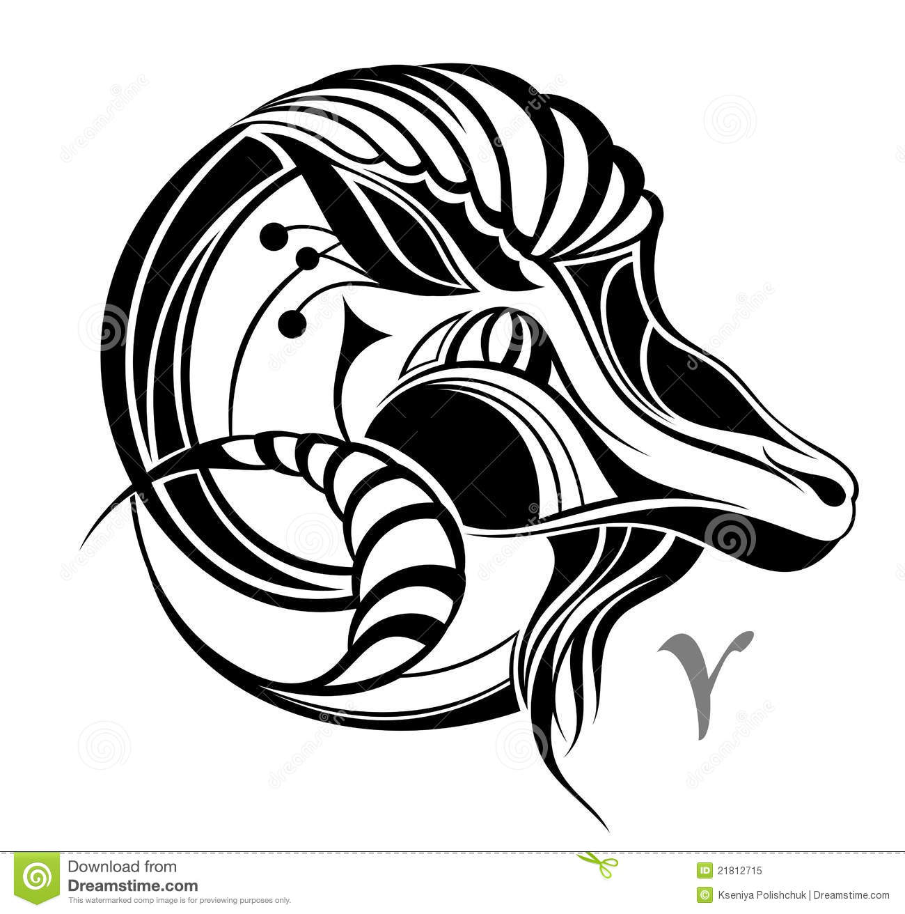 Aries Zodiac Vector Sign. Tattoo Design Stock Vector ... Aquarius Tattoos For Guys