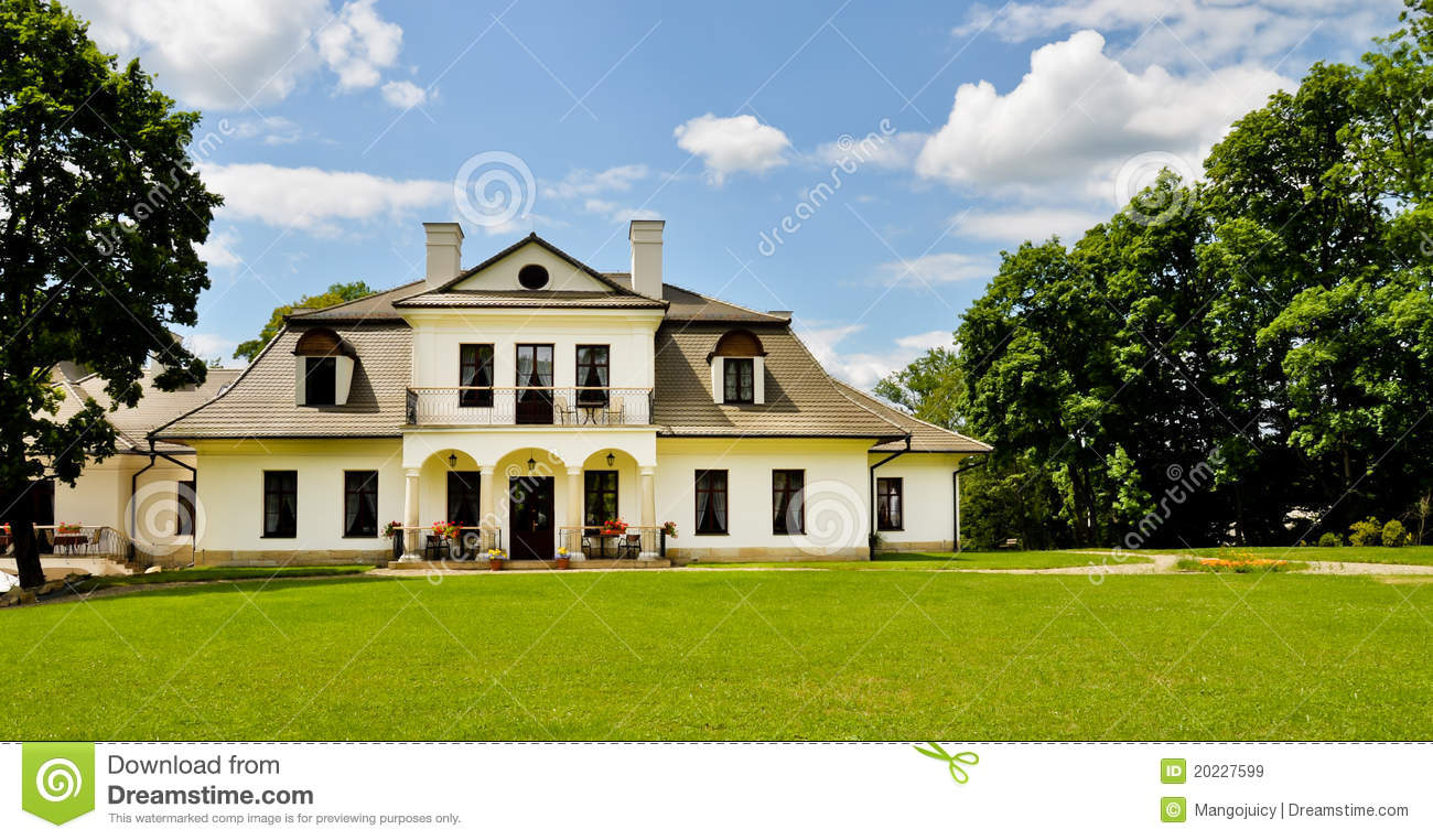 Aristocratic Manor House Panoramic View Royalty Free Stock