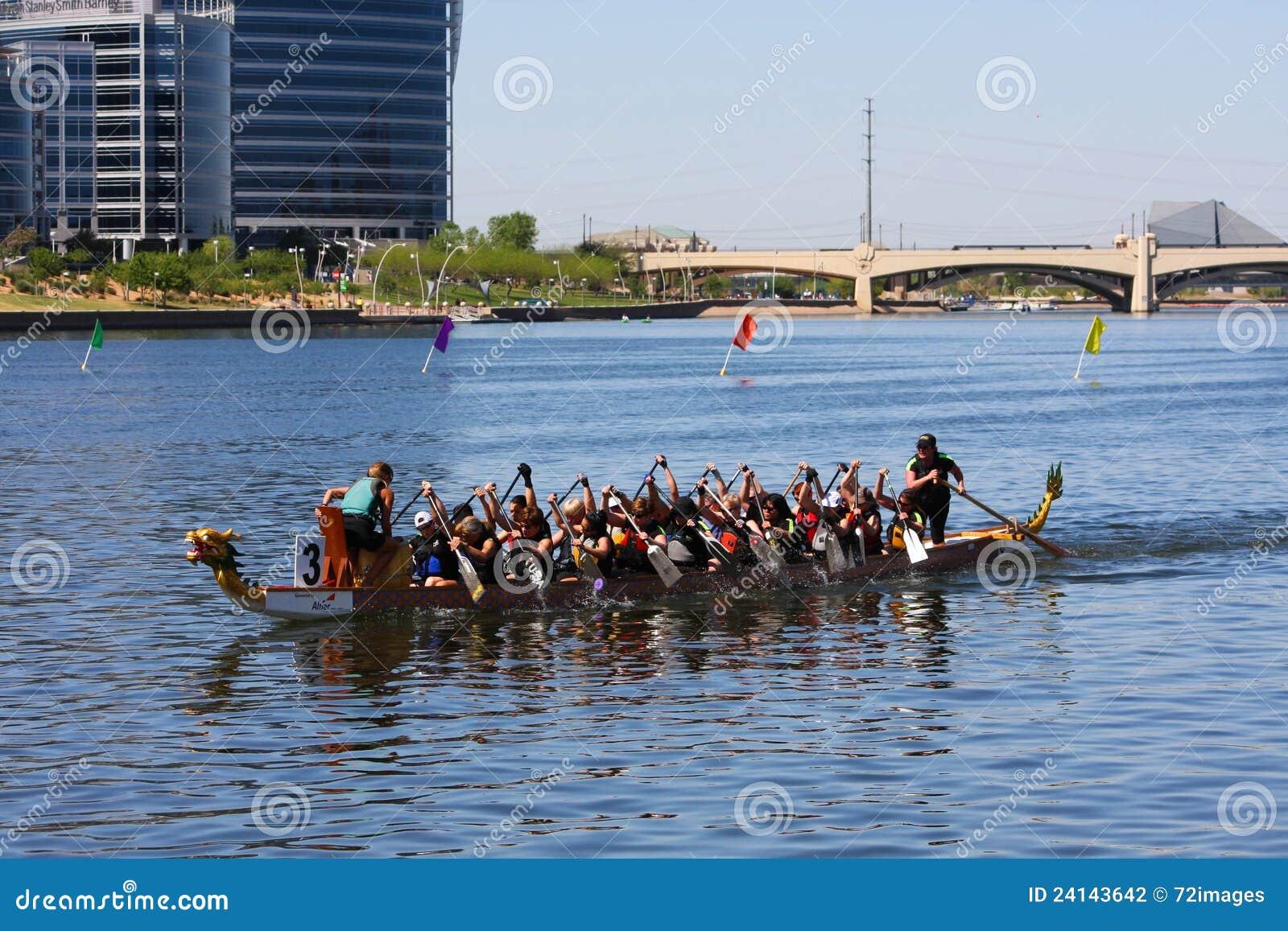Arizona łódkowatego smoka festiwalu jeziorny Tempe miasteczko