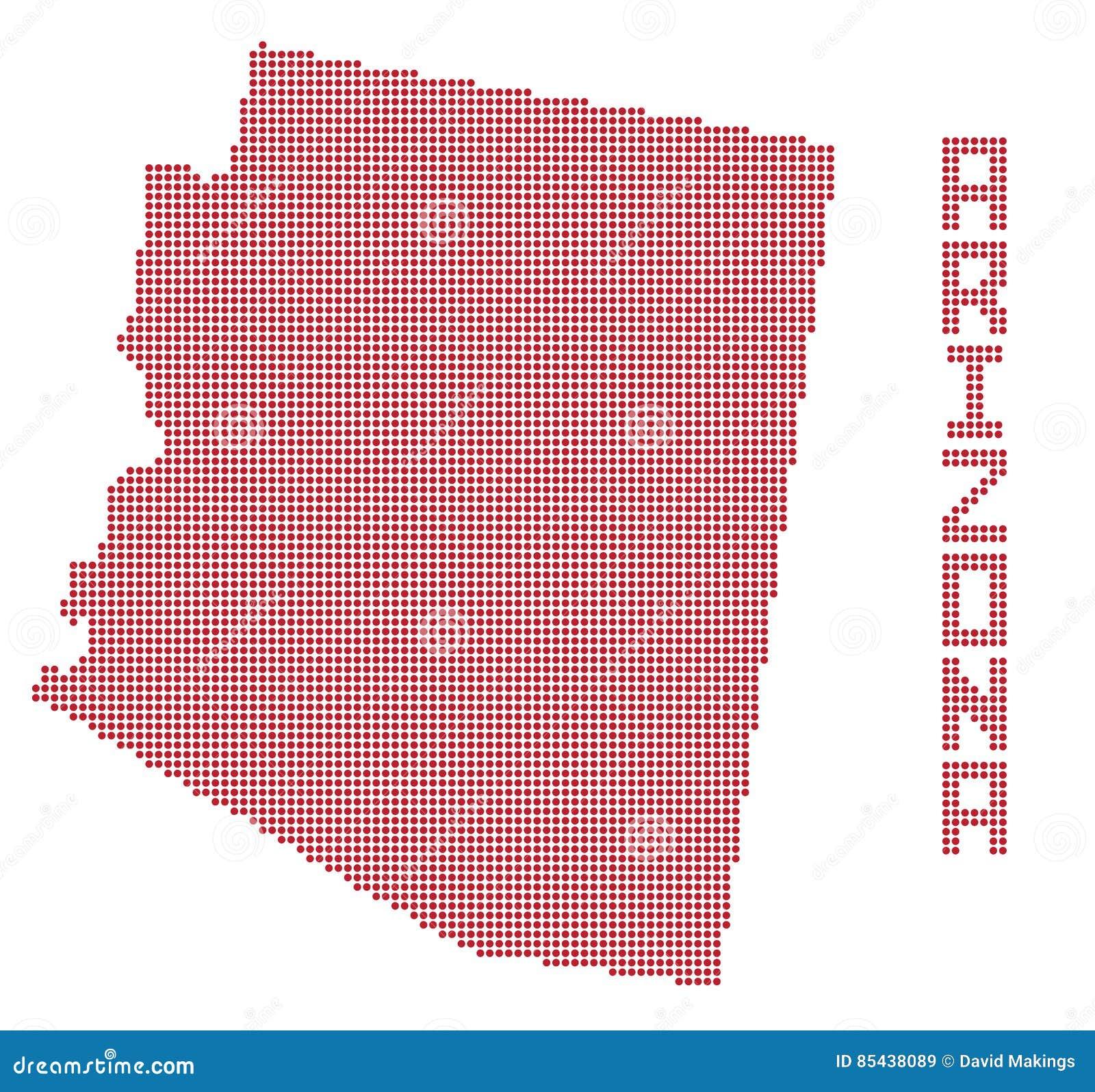 Arizona State Map Free.Arizona Dot Map Stock Illustration Illustration Of White 85438089