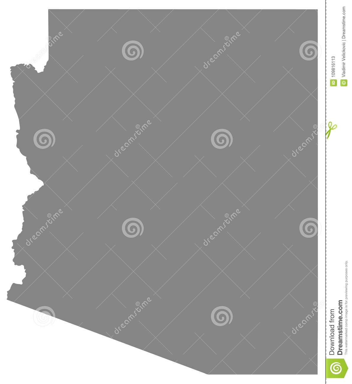 Arizona Map - State In The Southwestern Region Of The United States ...