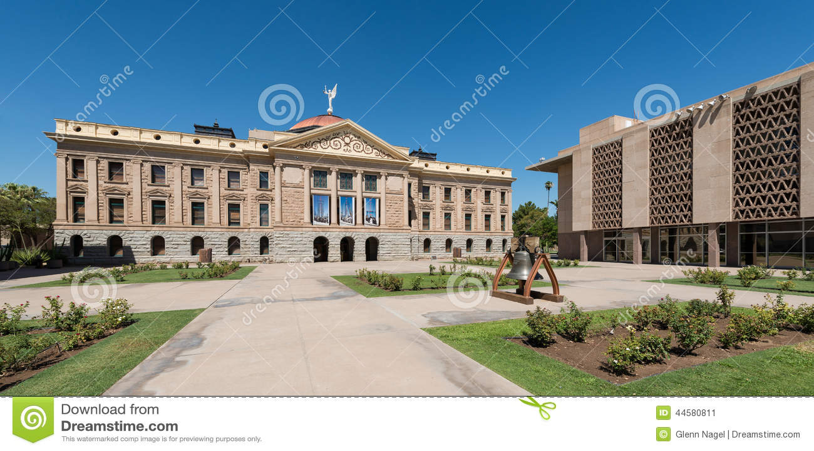 Arizona State Representatives >> Arizona State Capitol Stock Image Image Of Brown Blue