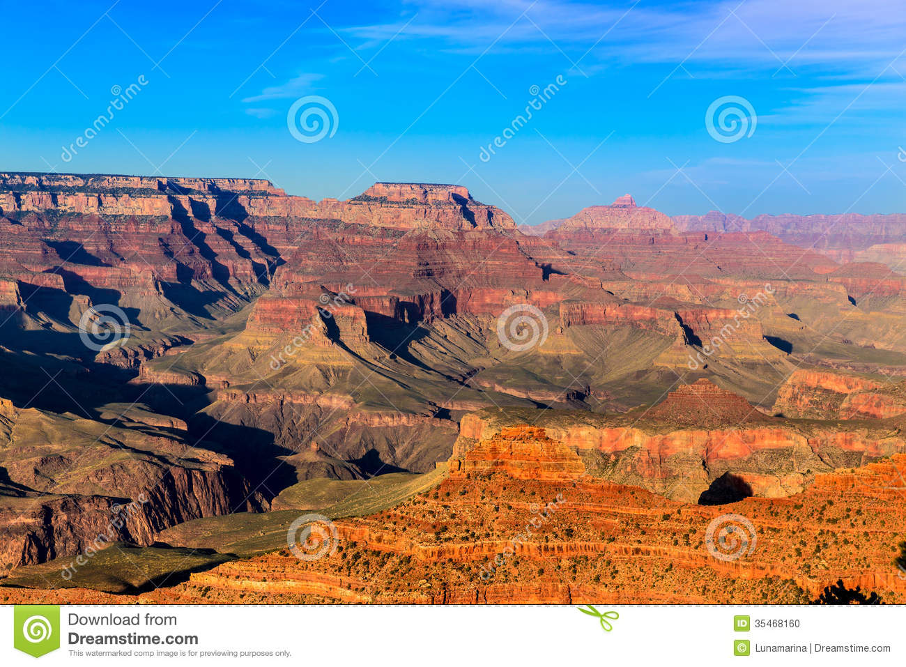 Arizona Sunset Grand Canyon National Park Yavapai Point Stock Photo ...