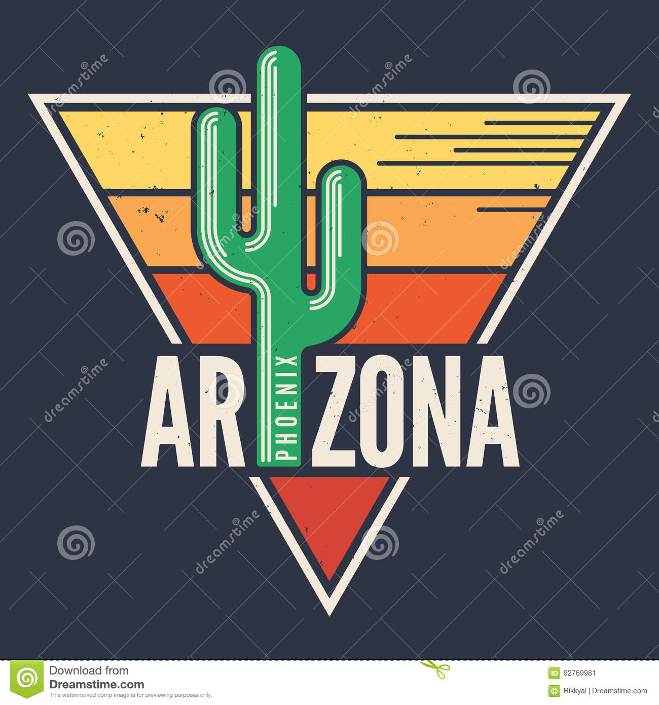 Arizona T Shirt Design Print Typography Label With Styled Sag