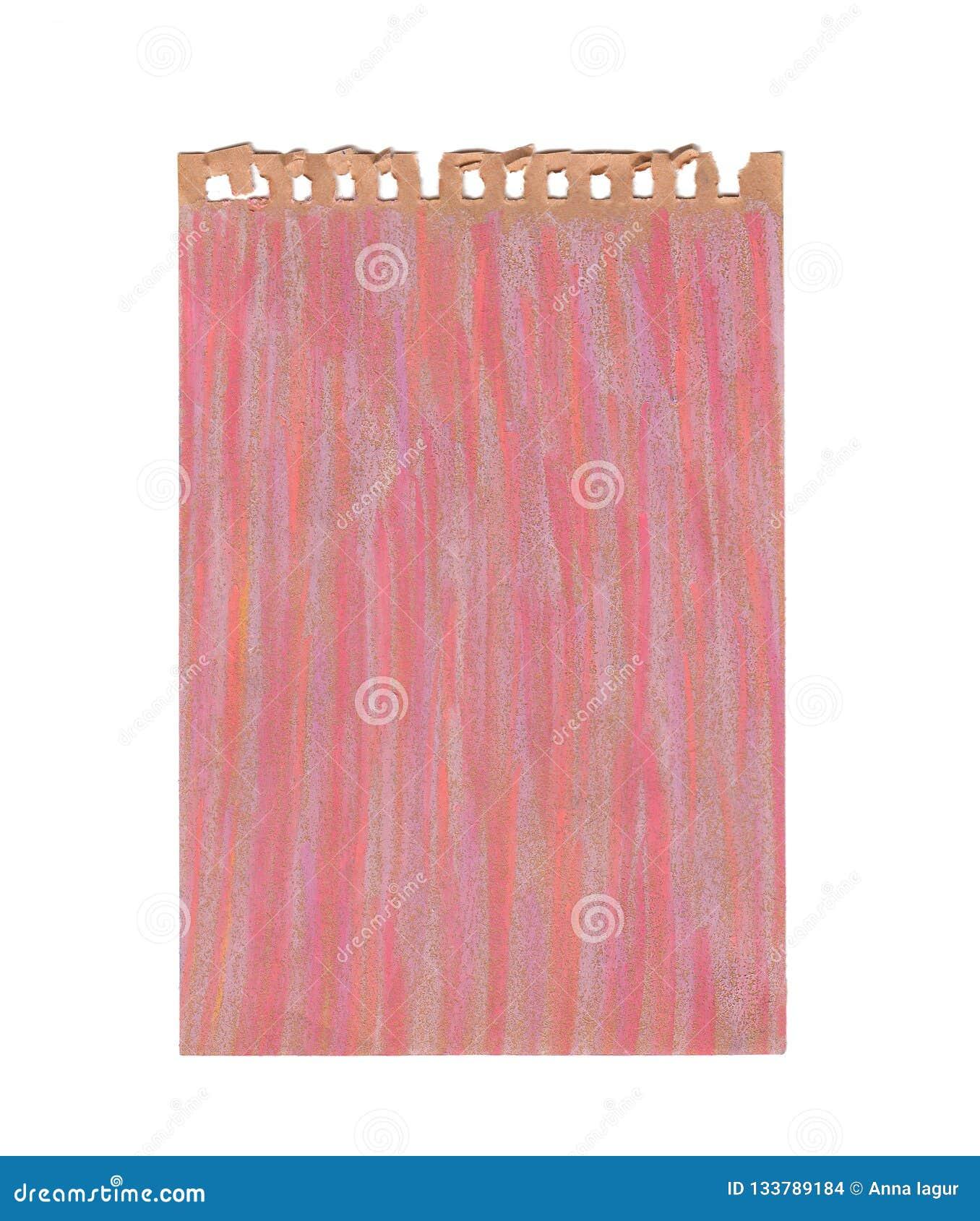 Ark av kraft papper med pastellfärgade rosa färger för olja