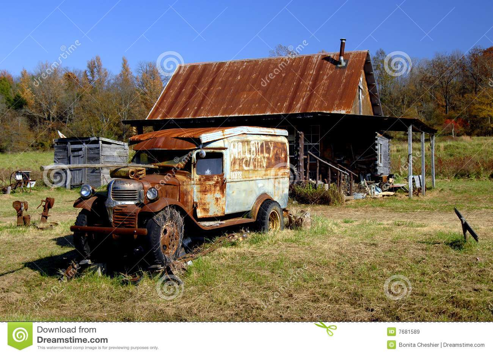 Arkansas Hillbilly Cabin Royalty Free Stock Images Image