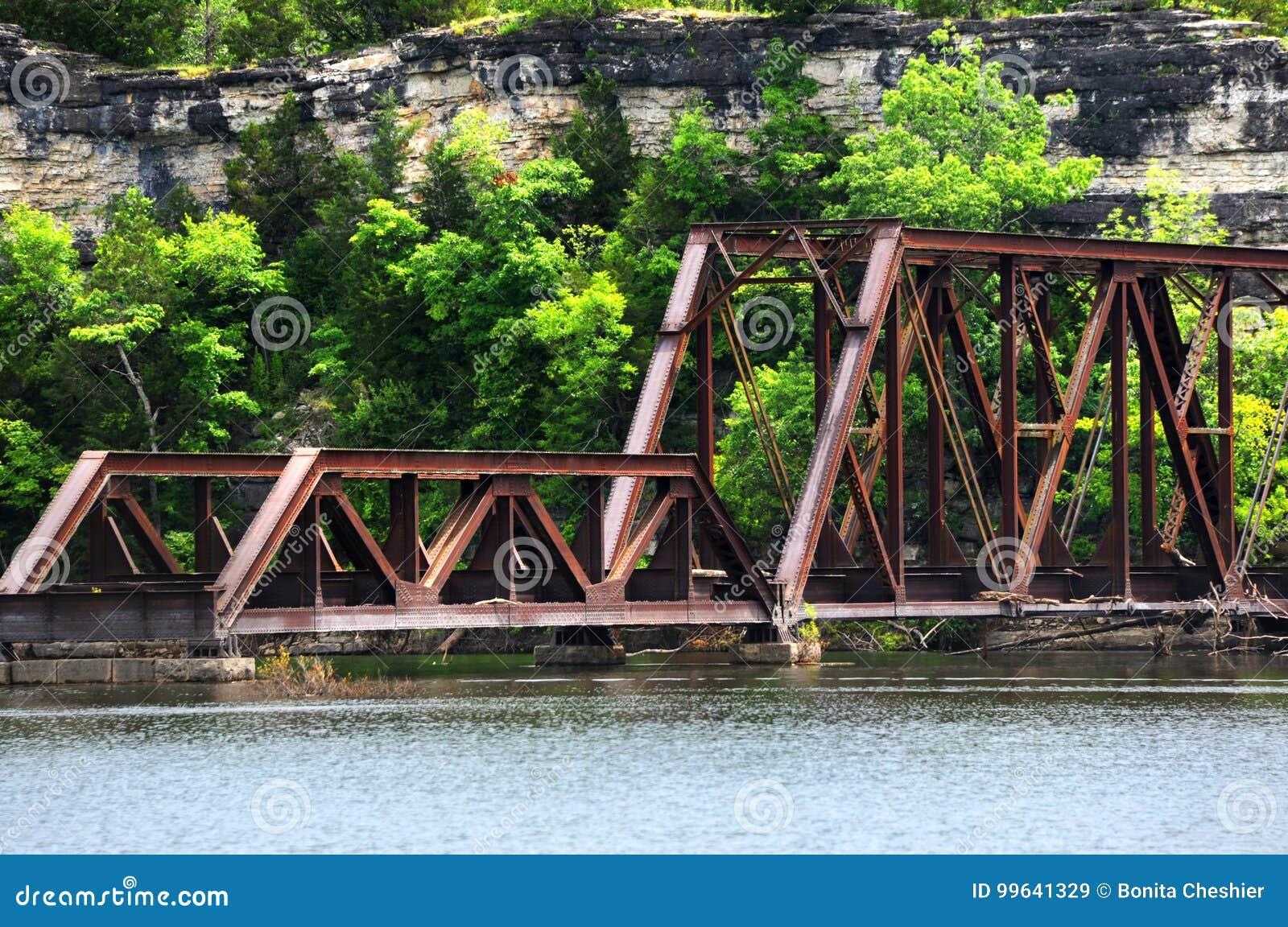 Download Arkansas Ozarks Railway Bridge Stock Image - Image of railray, white: 99641329