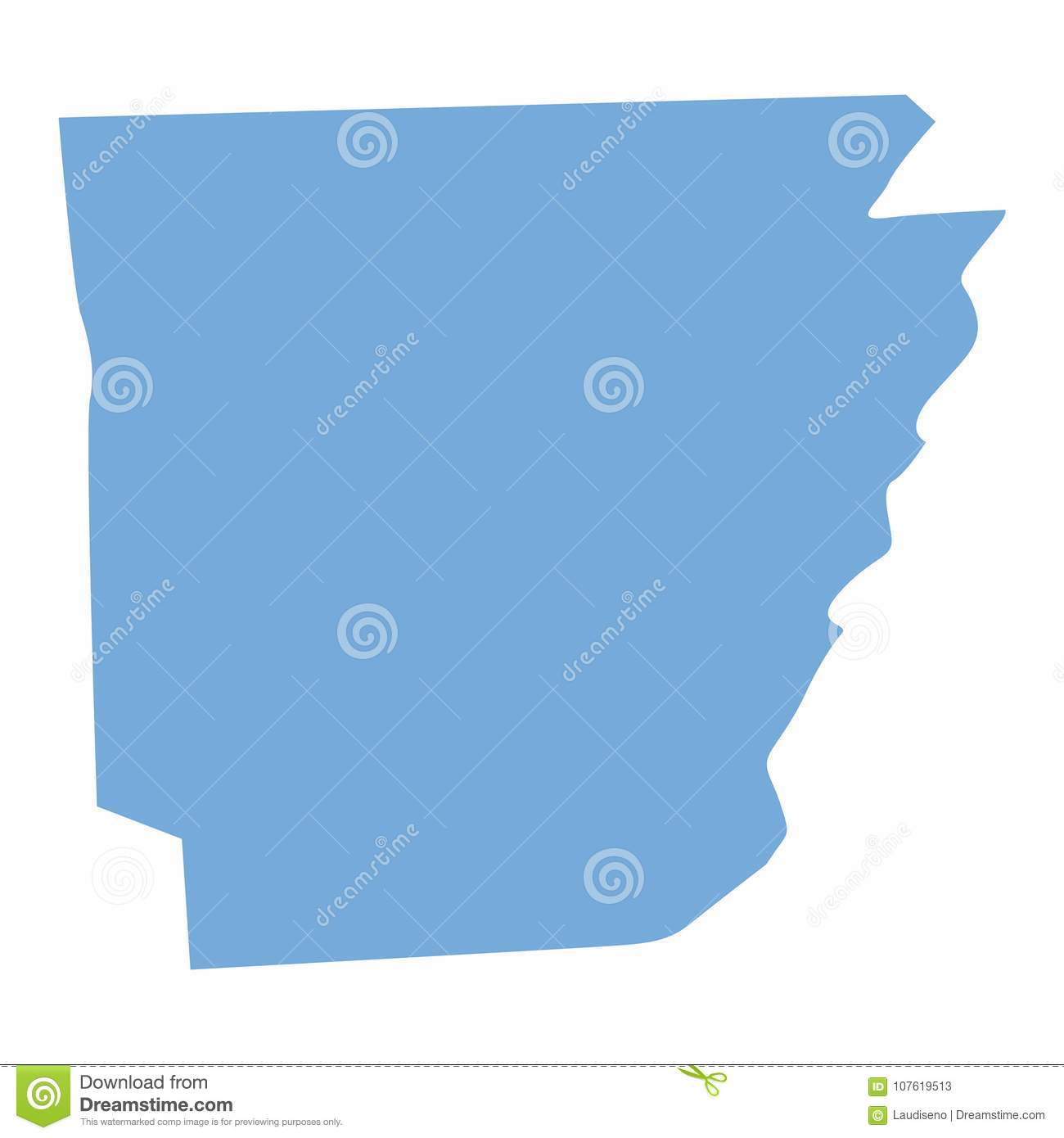 Arkansas World Map.Arkansas State Map Stock Vector Illustration Of World 107619513