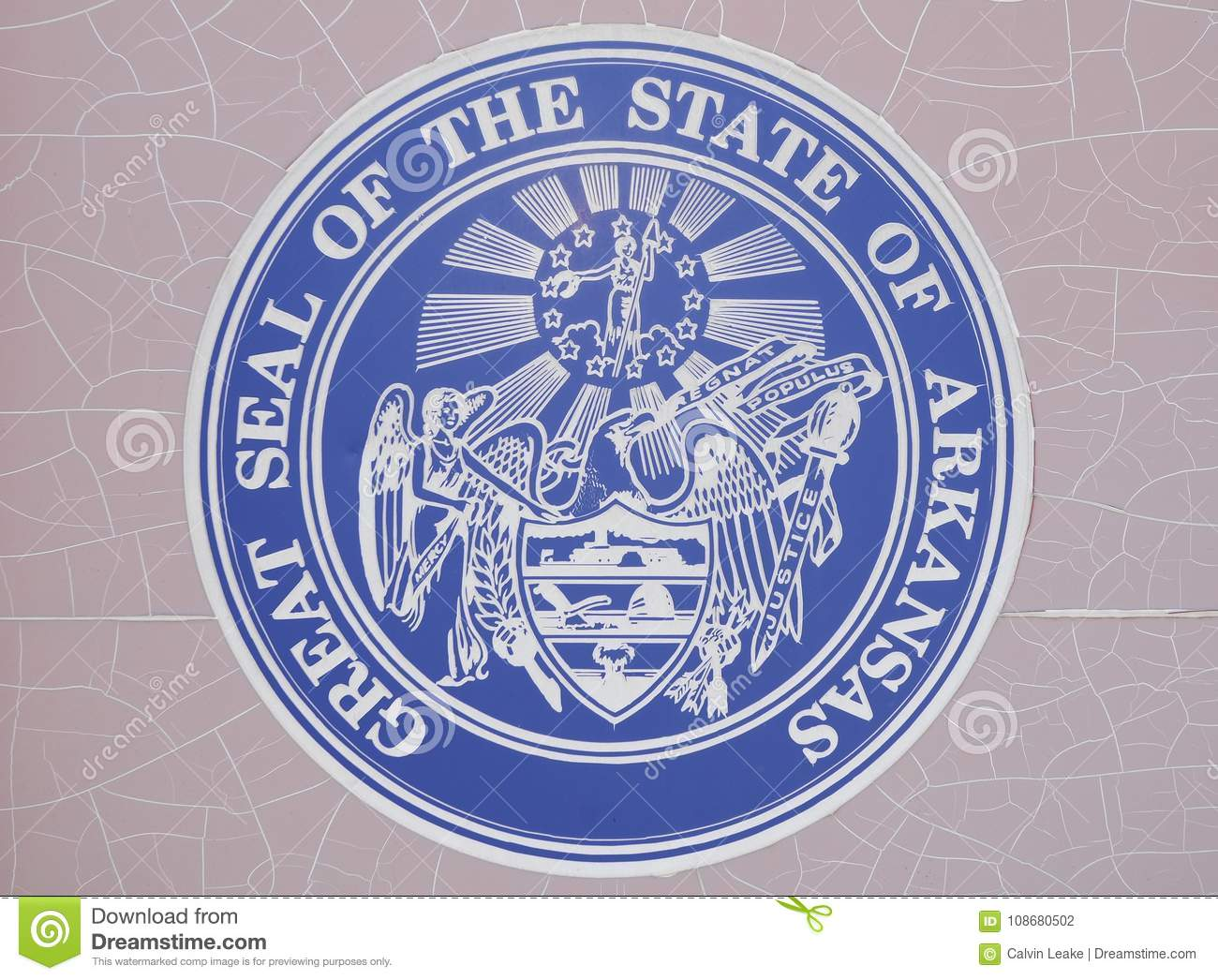 arkansas state seal editorial photography image of osage 108680502