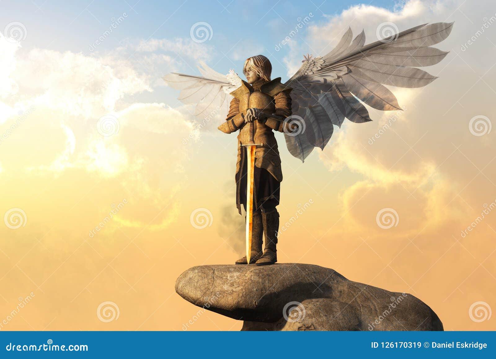 Arkhangel avec l armure et l épée