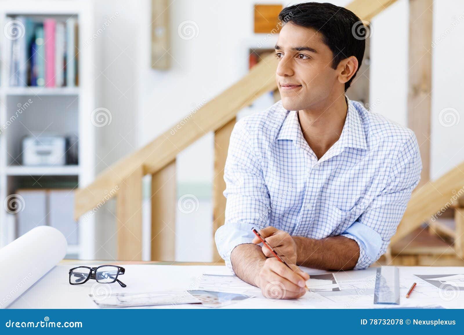 Arkitekt för ung man i regeringsställning