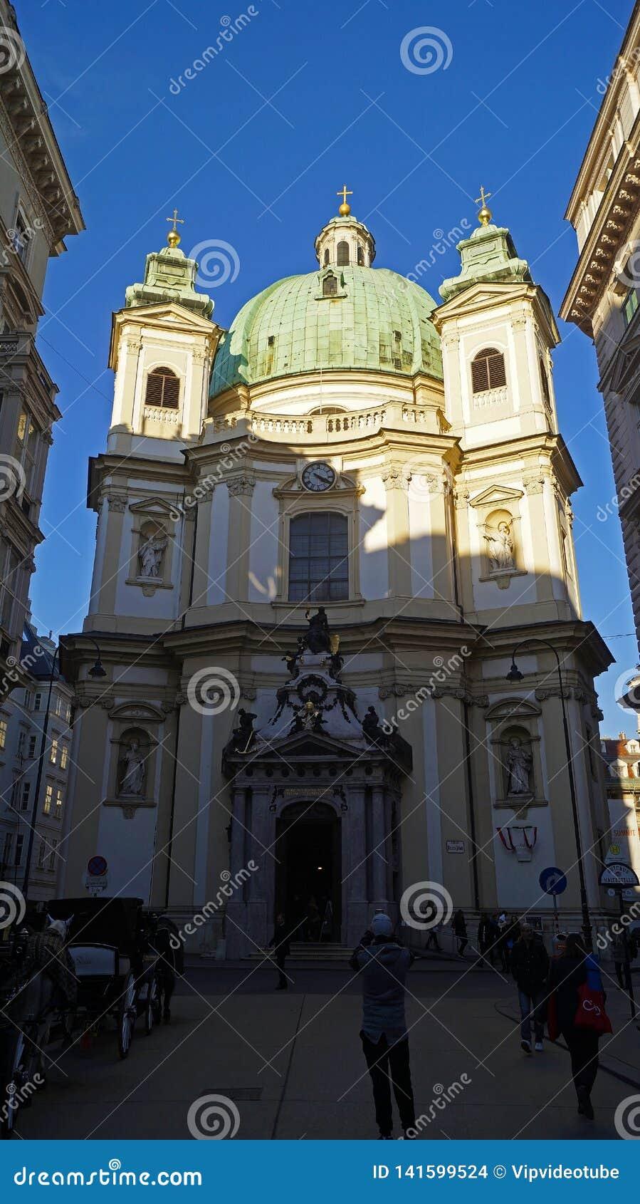 Arkitektur av den centrala delen av Wien