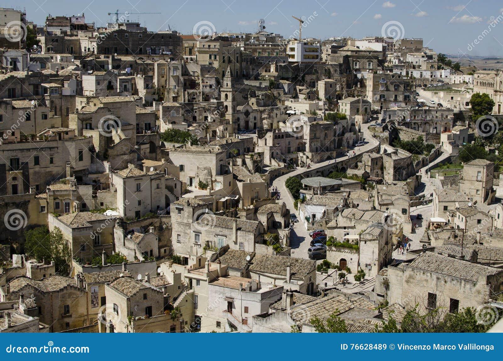 Arkitektur av Matera, Basilicata, Italien
