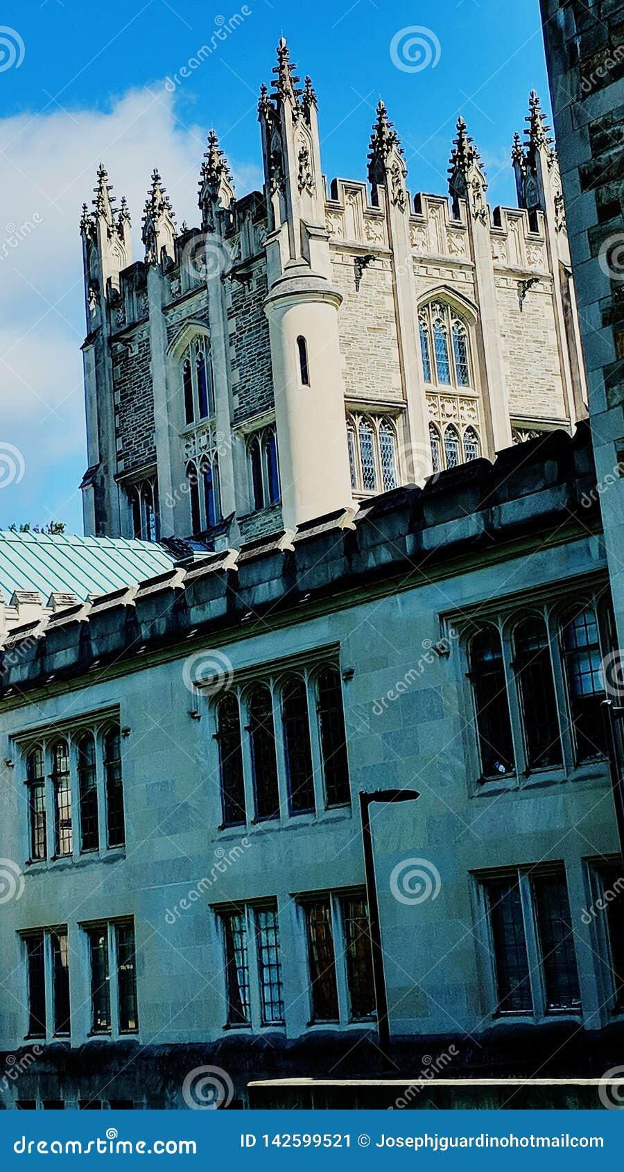 Arkitektur för slottuniversitetNew York sommar