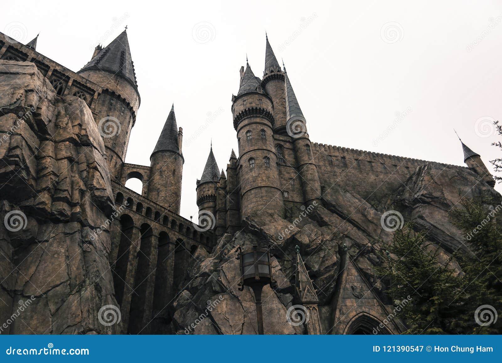Arkitektur osaka Japan för kyrka för byggnad för slott för gammal skola för Harry Potter trollkarl medeltida