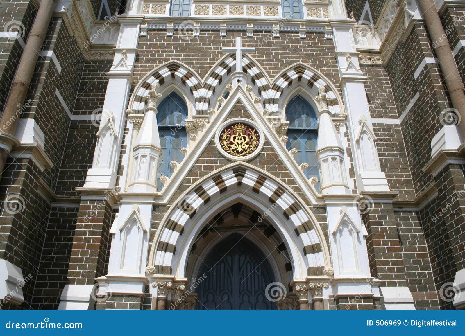 Arkitekturbandrabombay kyrklig yttermary montering