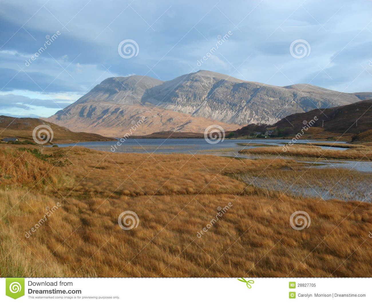 Arkle And Loch Stack North West Highlands Of Scotland