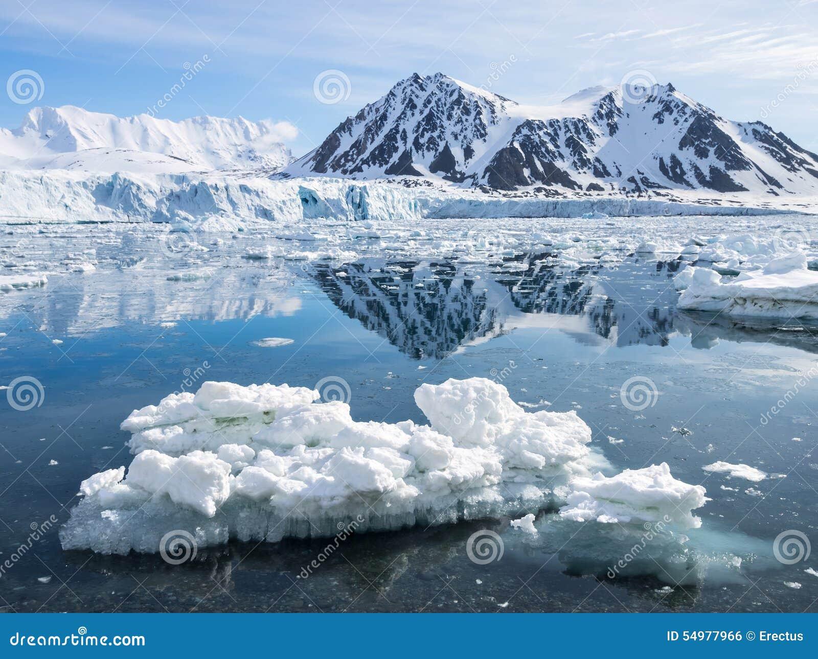 Arktiskt glaciärlandskap - Spitsbergen
