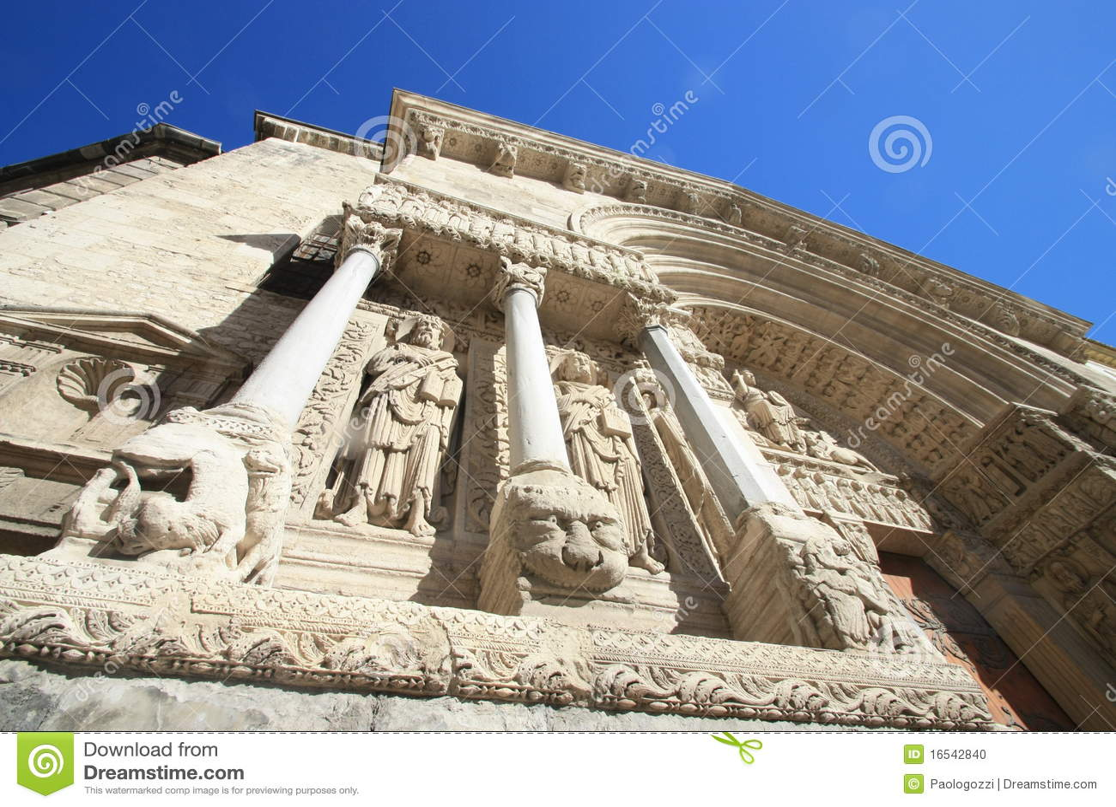 Arles γλυπτά στηλών καθεδρικώ&n