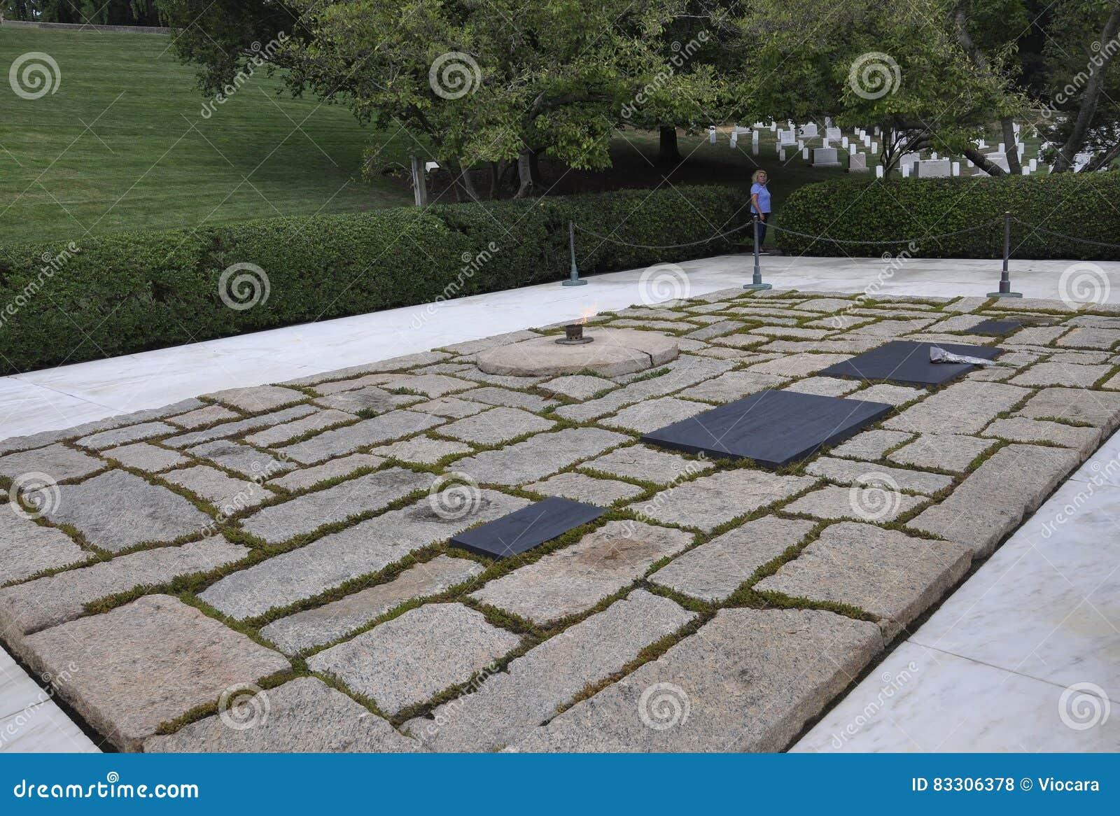 Arlington-Kirchhof, am 5. August: Grab Präsidenten Kennedy Arlington-nationalen Friedhofs von Virginia