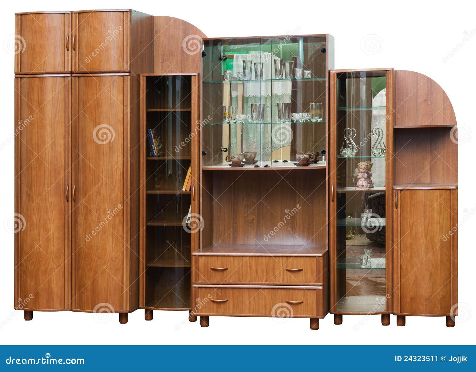 Armário De Madeira Com Portas De Vidro Imagem de Stock Imagem  #995F32 1300x1033