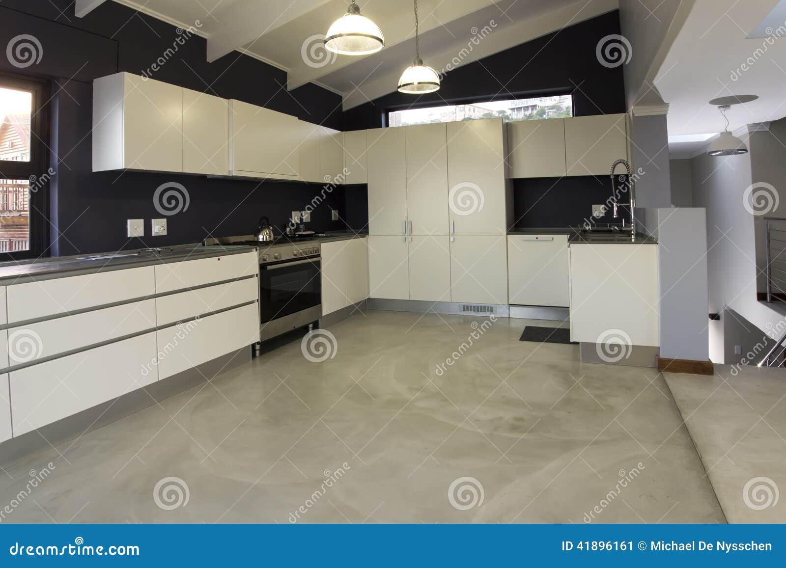 Armários Modernos Do Projeto Da Cozinha Foto de Stock Imagem  #82A229 1300 957